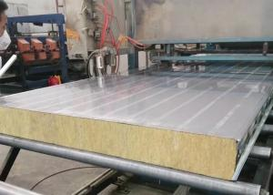 China 75mm Oven Stainless Steel High Density Rock Wool Sandwich Panel on sale