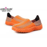 Comfortable Open Toed Woven Stretch Shoes Ladies Fashion Sandals BSCI Certification