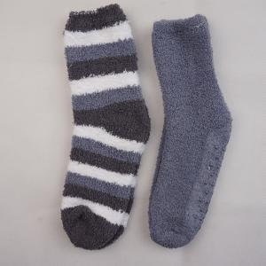 China Wholesale Stock Polyester Soft Striped Anti-slip On Foot Warm Winter Apparel Hosiery Stockings Girls Socks on sale