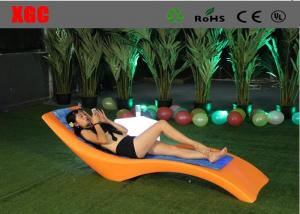 China Waterproof Plastic Garden Furniture Color Changing Coffee Chair on sale
