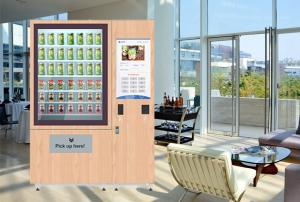 China Custom Fruit Salad Vending Machines / Frozen Vending Machine Touch Screen on sale