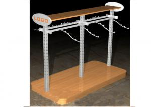 Quality Multi - Funcutional Metal Garments Gondola Display Stands MFD Material With for sale