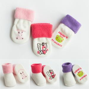 China Custom logo, design cute babes pure cotton non-slip socks on sale