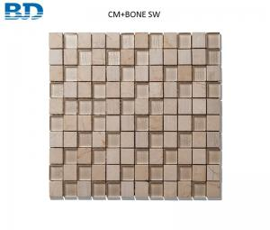 China Time Texture Square Stone and Glass Mosaic (Beige) on sale