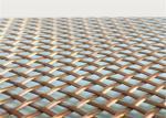 Architectural  Woven Decorative Wire Mesh For Building Facades Claddings