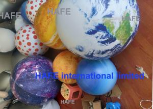 China Hanging LED Lights Inflatable Advertising Balloon Inflatable Moon Ball Globe 1.8M Diameter on sale