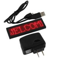 Global language support  Programmable 12X48 pixels scrolling message LED name tags