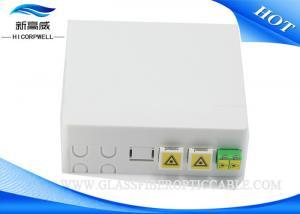 China Wall Mount Fiber Optic Termination Box , SC Fiber Optic Cable Termination Boxes on sale