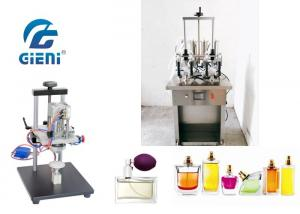 China 4 Nozzles Semi - Auto Perfume Filling Machine 10-20bot/Min With Crimper on sale