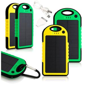 China external battery charger 5000mah solar power bank on sale