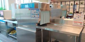China High Cleaning Effect Rack Conveyor Dishwasher With Anti Blocking Nozzle on sale