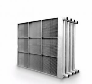 China Pipe fin heat exchanger for air conditioning , commercial and industrial refrigeration, energy recovery system cooling on sale