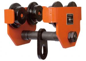 China TP 0.5 Ton Steel Forged Electric Hoist Trolley , Factory Warehouse Lifting Beam Trolley on sale