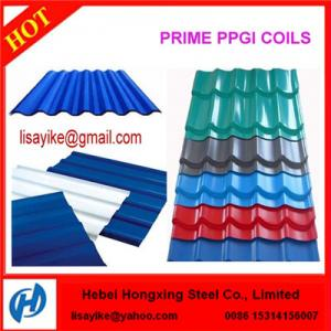 China PREPAINTED GALVANIZED STEEL ROOFING MATERIALS on sale