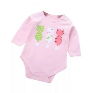 China Unisex Newborn Baby Rompers One Sizes 100 percent Cotton Zipper Closure on sale