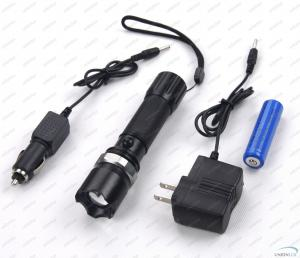 China Rechargeable 180Lm CREE Q5 LED Flashlight Torch with Li-ion Battery on sale