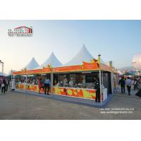 Portable 5x5m pagoda gazebo canopy tent aluminum frame and PVC roof cover used as stall for wine and dine festival