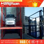 4-12m lifting height guide rail chain hydraulic goods ladder lifter