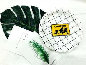 China Caution Run To Escape Soft PVC Products Patch Magnet For Chidren Study on sale