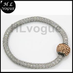 China Wholesale high quality stainless steel with diamond mesh bracelet for women on sale