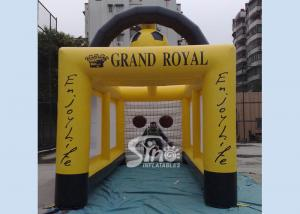 China Customized Outdoor Giant Inflatable Football Goal Tent For Kids And Adults Games on sale