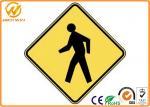 Подгонянные предупредительные знаки движения, желтый отражательный пешеходный предупредительный знак