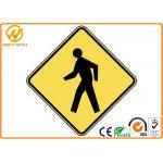 Señales de peligro modificadas para requisitos particulares del tráfico, señal de peligro peatonal reflexiva amarilla