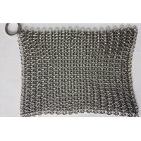6*8 Inch Stainless Steel  Cast Iron Skillet Cleaner Chainmail Scrubber For Cast Iron Pan