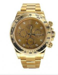 China Men's Rolex Watch - Daytona Yellow Gold Bracelet - Diamond Dial on sale