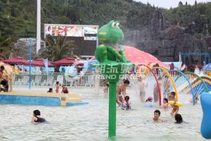China Spray Water Game For Kids , Cartoon Style Fiberglass Aqua Park Equipment For Sale on sale