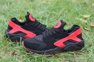 China Cheap Nike Air Huarache Black Red  Shoe Free shipping on koonba.com on sale