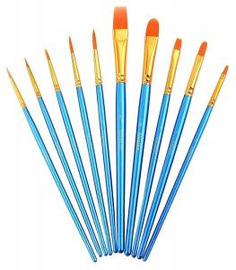 China Paint Brush Set Acrylic 10pcs Professional Paint Brushes Artist for Watercolor Oil Acrylic Painting on sale