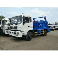 China Municipal Rubbish Collection Truck , 10 Tons Dongfeng Swing Arm Garbage Disposal Truck on sale
