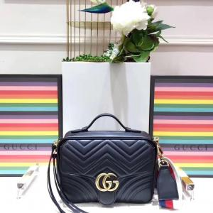 ef136134b659 ... Quality GUCCI MARMONT matelassé small shoulder bag GG handle top replica  for sale ...