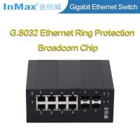 12 ports network switch 4x1000BaseX SFP Slots and 8x10/100/1000BaseT(X) Ports Full Gigabit Industrial Switch