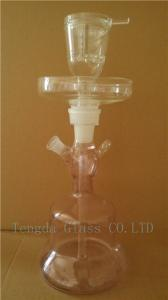 China pink glass shisha, black hooka and purple nargile of smoking pipe with leather box on sale