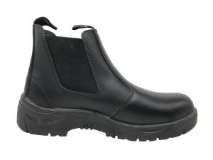China Insulation Womens Black Work Boots , No Laces Composite Steel Toe Shoes on sale