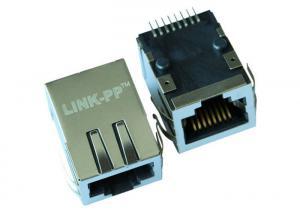 China HR991175C Surface Mount Rj45 Connector 10 Base - T Female PCB Jack LPJ19155CNL on sale
