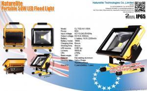 China Portable COB 50W Rechargeable Led Floodlight , Led Outside Flood Lights on sale