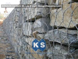 China High Strength Hexagonal Wire Mesh Hot-Dip Galvanized Gabion Box Basket Construction on sale