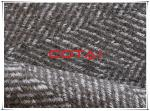 Factory Supply herringbone printed melton fabric practical single face wool poly woven woolen fabric