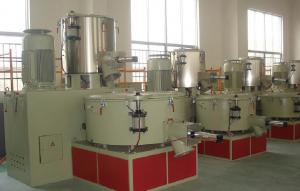 China High / Low Speed Mixer Extruder Machine Parts With 500L/1000L 800-1000kg/H on sale