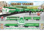Electric Classic Train Railway Race Set W / Sound For Christmas Gift