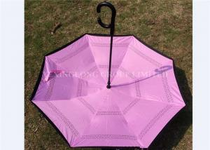 Quality Manual Open Reverse Opening Umbrella , Double Layer Upside Down Umbrella for sale