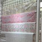137cm X 20m EN71 Pvc Lace Tablecloth Pink Color