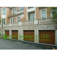 China Remote-controlled Galvanized steel Sectional  Garage door For Apartment /Villas,Wood color on sale