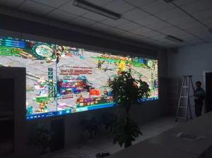 China Lecede Glass Transparent LED Wall High definition Full Color on sale