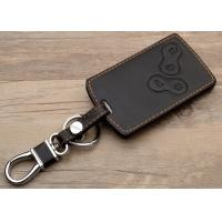 Renault car accessories , Leather Key Bag with Chromed Metal Hook