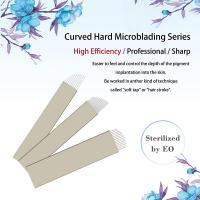 Private Labeling Nano Dia. 0.18mm 10 / 12 /13 / 14 Pin Hard Microblading Blades Gold Hard PMU Blades For Eyebrows