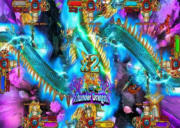 thunder dragon shooting fish gambling game , fishing arcade
